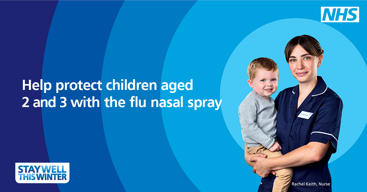 Help protect children aged 2 and 3 with the flu nasal spray